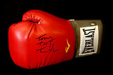 New Tony TNT Tucker Signed 16oz Red Everlast  Boxing Glove