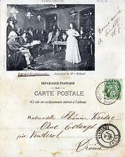 CPA Musée Grévin - Tribunal Révolutionnaire - Jugement de Mme Roland - 1902