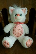 Vtg Hallmark Yum Yums Bear White Plush Stuffed Kenner 1989 Peppermint CAT