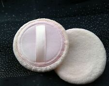 Powder puffs. Two velour super soft puffs silk backing with strap. Compact size.