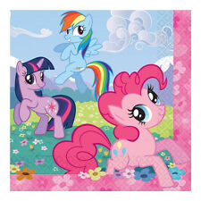 """16 Magic Pink My Little Pony Birthday Party Pink 6.5"""" Disposable Paper Napkins"""