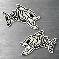 Angry Fish sticker 2 pack quality water & fade proof 7 year vinyl boat fishing