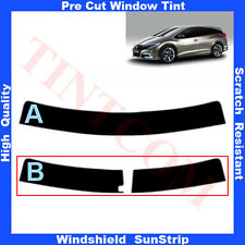Pre Cut Window Tint Sunstrip for Honda Civic 5 Doors Estate 2013-...  Any Shade