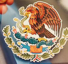 "LARGE 20"" x 18.75"" Mexican Coat of Arms Sticker Decal Flag Car Truck Vinyl"