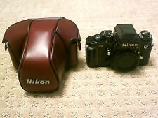 Nikon F3 HP 35mm SLR Camera + CF-22 Red Leather Case Great Condition