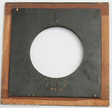 "4"" Square B&J Lens Board Blank - 50mm Opening with 4 Mount Holes - CRACKED D101A"