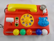 "Vintage Telephone Phone Activity Toy HONG KONG 9.5"" Wide"