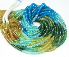 Natural Multi Apatite Faceted Rondelle Loose Gemstone Beads Strand 14 inches 3mm