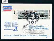 66527) LH FF Frankfurt - Oslo Norwegen 8.10.98, card Marshall Isl. ship U-Boot