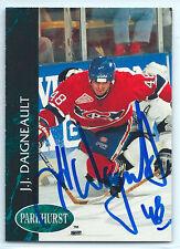 J.J. Daigneault signed 1992-93 Parkhurst Montreal Canadiens autograph #324
