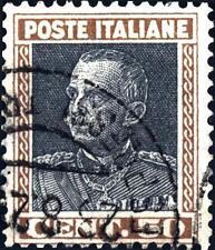 ITALIA - Regno - 1927 - Effigie di Vittorio Emanuele III° -  Parmeggiani - 50 c.