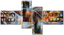 4 PANEL TOTAL 138x78cm CANVAS DIGITAL WALL ART ABSTRACT PRINTS Dali Multi