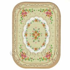 Dolls House Large Oval 18th Century Carpet / Rug (18nlo2)