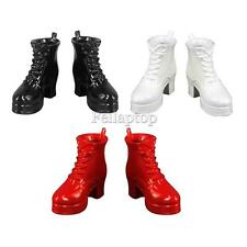 3 Pair 1/6 Scale Ankle Boots Shoes for Phicen Kumik 12'' Action Female Shoes
