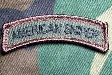 AMERICAN SNIPER TAB ARMY USA ISAF FOREST VELCRO® BRAND FASTENER PATCH