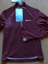 New Size 8 Ladies/Girls Odlo Purple Running Fleece Top New with tags