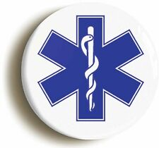 STAR OF LIFE BADGE BUTTON PIN (1inch/25mm) HOSPITAL FANCY DRESS DOCTOR NURSE