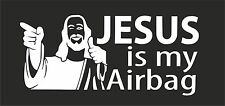 Jesus is my airbag  VW VAG EURO Vinyl Decal Sticker Skate BMX sticker Skateboard