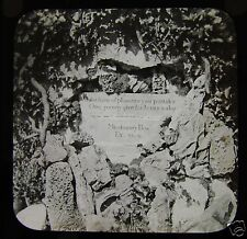 UNUSUAL Glass Magic Lantern Slide A MISSIONARY BOX C1910 POSSIBLY IN WALES