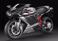 Matte Black w/ Silver Fairing Kit Injection for 2007-2012 Ducati 848 1098 1198