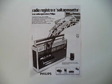 advertising Pubblicità 1972 RADIO PHILIPS RR 512