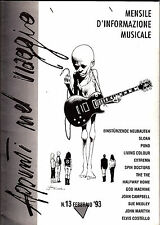 Appunti Viaggio Febbraio 1993 #13 Italy Music Zine Reviews Sloan Spin Doctors