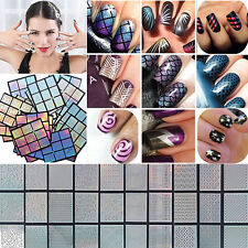 5 Sheets/set Stamp Tool Nail Art Vinyls Stickers Hollow Template Stencil Sticker