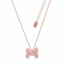 Disney Couture Official Minnie Mouse Rocks Rose Gold-Plated Bow Necklace