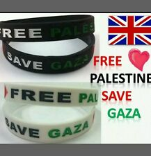 Gaza Free Palestine Flag Silicone Wrist band charity help Bracelet gift support