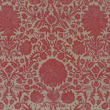 French General Joyeux Noel Christmas Couronne Fabric in Roche Rouge 13711-17