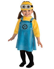 Toddler Girl Despicable Me Minion Fancy Dress Costume 1-2 years