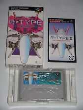 SNES:  R-TYPE III / 3 + manual + box (jap/jp/NTSC) ~ top condition! ~ SHMUP