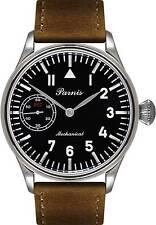 PARNIS Modell 2088 elegante Herren Armbanduhr Edelstahl Handaufzug SeaGull