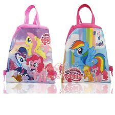 12pcs My little Pony Children Cartoon Drawstring Backpacks School Bag Party Gift