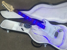 "New BADCAT MOJO "" Lucite Series"" Acrylic Body ELECTRIC GUITAR Blue LED Light"