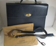 """COACH Vintage Madison Collection Navy Blue """"Drake"""" Briefcase - New w/Tags"""