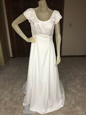 Alfred Angelo Wedding Dress Size 10 Off White Beaded Pearls