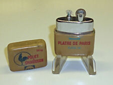 "VINTAGE pocket Lighter with Advertising CASE ""POLIET & Chausson"" - Parigi-France"