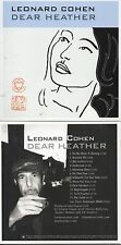 CD Leonard COHEN Dear Heather | Mini LP REPLICA  CARD SLEEVE | 13-TRACK
