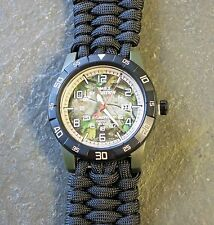 RARE!!  NEW! Timex Expedition REALTREE CAMO Watch w/ Paracord 550 Band
