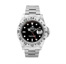 Rolex Explorer II 16570 Black Mens Watch GMT Oyster Bracelet