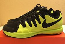 Nike Zoom Vapor 9.5 Tour Volt Black Grey Tennis Shoes Mens Sz 10 Federer NEW!!!