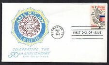 1369 -- American Legion -- First Day Cover, Virgil Crow cachet