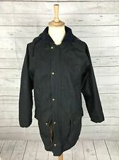 Mens Blue Riband Hooded Wax Hunting Jacket - Medium - Navy - Good Condition