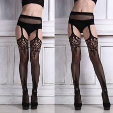 Sexy Lady Womens Lingerie Racy Net Stockings Lady Lace Thigh-highs Pantyhose