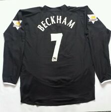 David Beckham Manchester United Nike Long Sleeve  Jersey size XL