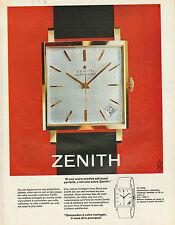 Publicité Advertising 1964 Montre ZENITH automatic