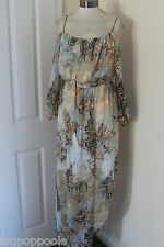 size 12 beige blue and yellow chiffon maxi dress from debenhams brand news
