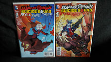 Harley Quinn and Suicide Squad 1 and variant April Fools Day NM