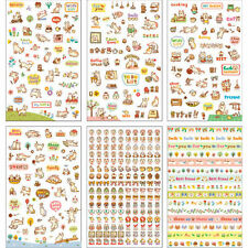 6 Sheets Cat Diary Decoration Sticker Cute Cartoon Stickers Label Kawaii
